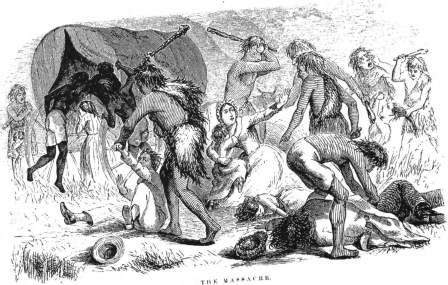 The 1850 massacre of the Oatman family in New Mexico Territory riveted Americans for years; this illustration was published in 1859.